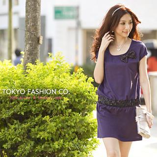 "Buy Tokyo Fashion Drop-Waist ""Bow"" Dress 1022538109"