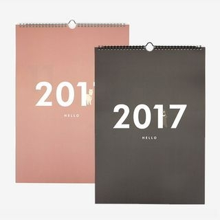 "2017 ""HELLO CALENDAR"" Wall Calendar (L) 1055580159"