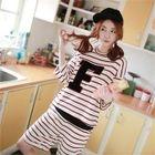Set: Lettering Stripe T-Shirt + Stripe Shorts 1596