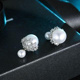 Double Sided Faux Pearl Stud Earring