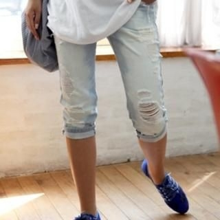 Picture of Momnuri Cropped Maternity Jeans 1022899628 (Momnuri Apparel, Womens Pants, South Korea Apparel)