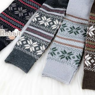 Color-Block Patterned Stockings