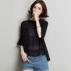 Bell-Sleeve Knit Top 1596