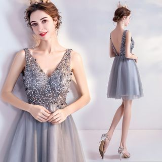 Sleeveless | Sequin | Dress | Prom | Mini