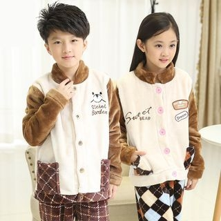 Kids Pajama Set: Fleece Long Sleeve Top + Pants 1060578596