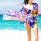 Set : Print Swimsuit + Cover-up 1596