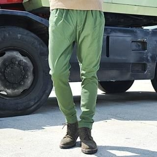 Drawstring-Waist Baggy Pants