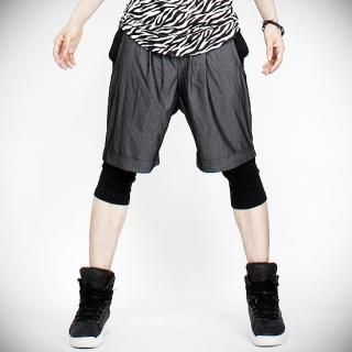 Buy Peeps Leggings Inset Pleated Shorts 1022997542