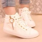 Studded Buckled High-Top Sneakers 1596