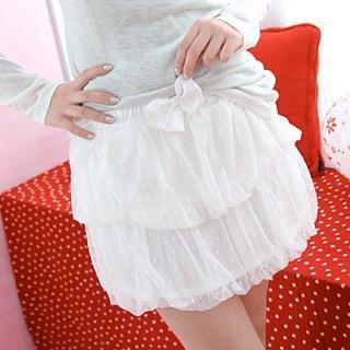 Picture of 59 Seconds Bubble-Hem Tulle Miniskirt 1022485193 (59 Seconds Apparel, Womens Skirts, Hong Kong Apparel, Hong Kong Skirts)