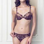 Set: Lace Trim Bra + Panties 1596