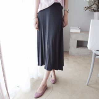Band-Waist Long Skirt 1050170626