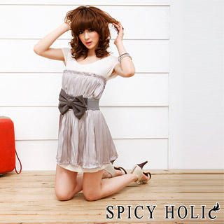 Buy SPICY HOLIC Inset Tee Pleated Dress 1022597225