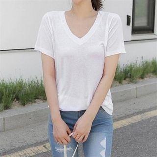 V-Neck Short-Sleeve T-Shirt 1060379728