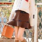 Ruffle A-Line Mini Skirt 1596
