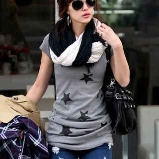 Buy REDOPIN Short-Sleeve Long Tee-Shirt 1022127139