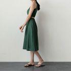 Cutout-Back A-Line Midi Dress 1596