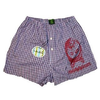 Buy Fraternity Printed Plaid Boxer 1023006536