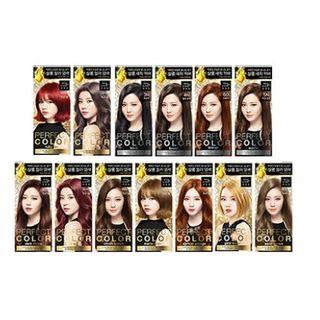 miseensc ne - Perfect Color (13 Types): Hairdye 40g + Oxidizing Agent 60ml + Argan Booster 8ml + Treatment 6ml #8O Apricot Orange 1060322148