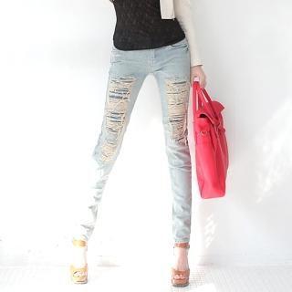 Buy AKA Distressed Skinny Pants 1022332213