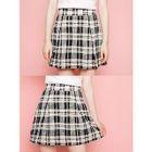 Plaid A-Line Mini Skirt 1596
