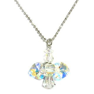 """My Little Angel"" April Birthstone Necklace - Diamond"