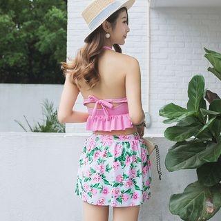 Set: Ruffle Swim Top + Floral Swim Bottom + Skirt 1056466518