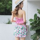 Set: Ruffle Swim Top + Floral Swim Bottom + Skirt 1596