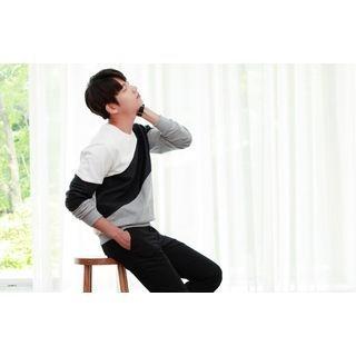 Embossed Color-Block Sweatshirt 1052729686