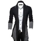 Open-Front Two-Tone Cardigan 1596