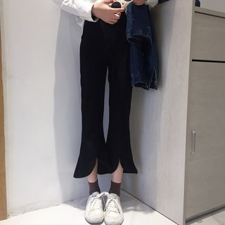 Slit Boot-cut Pants 1058294099