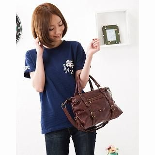 Picture of anello Belted Satchel Brown - One Size 1022271137 (anello, Satchels, Japan Bags, Womens Bags, Womens Satchels)