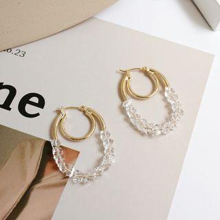 Rhinestone | Earring | Figure | Hoop | Size | One