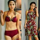 Set: Frill Trim Bikini + Cover-up 1596