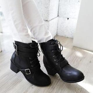 buckled-lace-up-ankle-boots