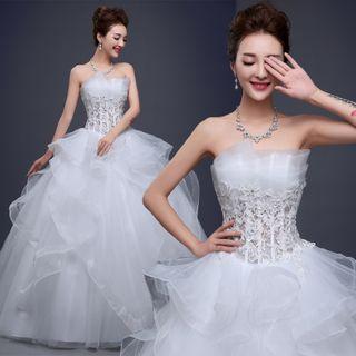 Strapless   Wedding   Dress   Gown   Ball