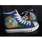Droopy-Eyed Dog High-Top Canvas Sneakers от YesStyle.com INT