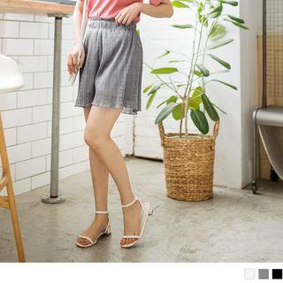 Elastic Waist Lace Shorts 1066224178