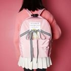 Striped Bow-Accent Backpack 1596