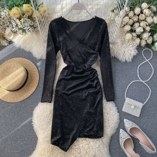 Long-sleeve | Glitter | Dress