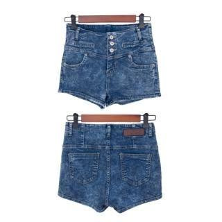 Buy Cookie 7 High-Waist Denim Shorts 1022929093