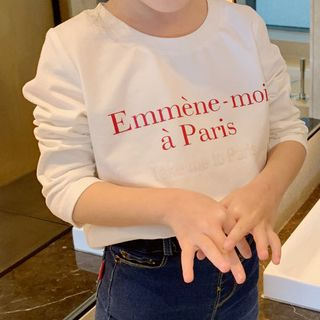 Image of Family Matching Lettering Long-Sleeve T-Shirt