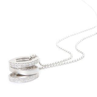 Image For 18K White Gold Pendant with Diamonds