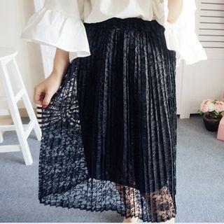 Accordion Pleat Lace Skirt 1056910643