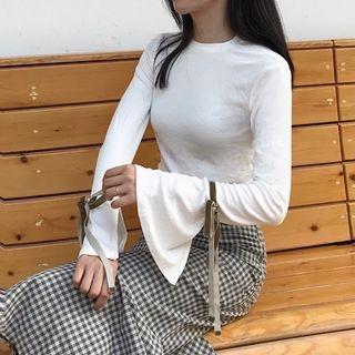 Slit-Sleeve Knit Top 1062372354