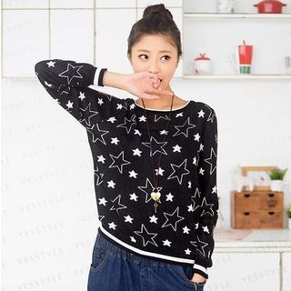 Star Pattern Sweater 1037467115