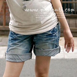 Buy Momnuri Washed Denim Shorts 1012001149