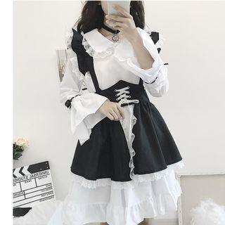 Long-sleeve | Babydoll | Ruffle | Skirt | Dress | Lace