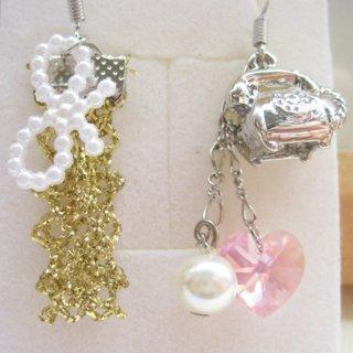 Telephone | Swarovski | Crystal | Earring | Heart | Pink