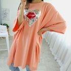 Sequined Heart Oversized T-Shirt Dress 1596
